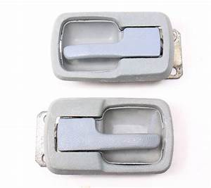 Grey Interior Door Pull Handle Set Vw Jetta Rabbit Caddy Lx Mk1 Vanagon T3