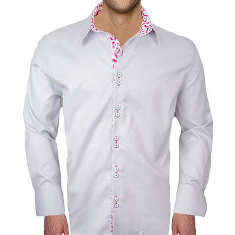 mens designer dress shirts breast cancer accent dress shirts