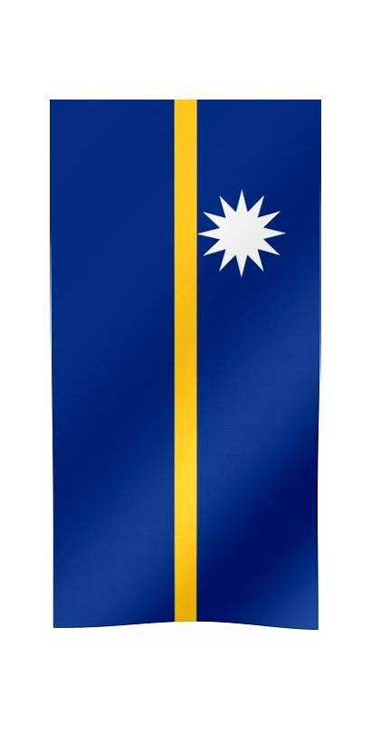 Flag Nauru Vertical Country Waving Flags Animated