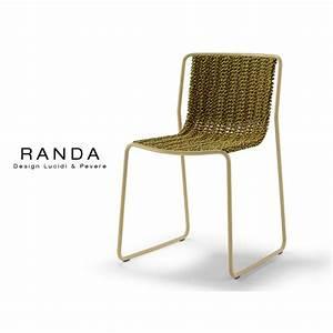 Chaise Exterieur Design : chaise d 39 ext rieur randa structure acier peint assise corde multicolore ~ Teatrodelosmanantiales.com Idées de Décoration