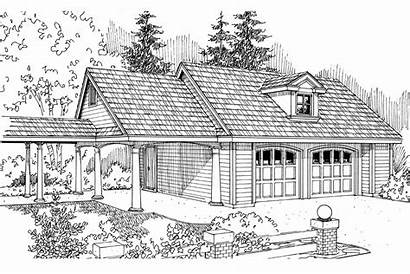 Garage Plan Carport Plans Elevation Associateddesigns 051g