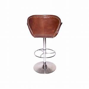 Tabouret De Bar Cuir : tabouret de bar cygne forme swan en cuir marron vintage ~ Dailycaller-alerts.com Idées de Décoration