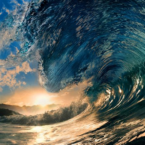 Tropical Paradise Ocean Sea Surfing Wave Sunlight