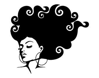 Svg and dxf digital file afro woman svg, strong woman svg for use with cricut and silhouette systems. Afro clipart grey hair, Afro grey hair Transparent FREE ...