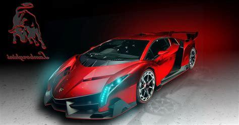Lamborghini Veneno Red Art Hd Wallpaper