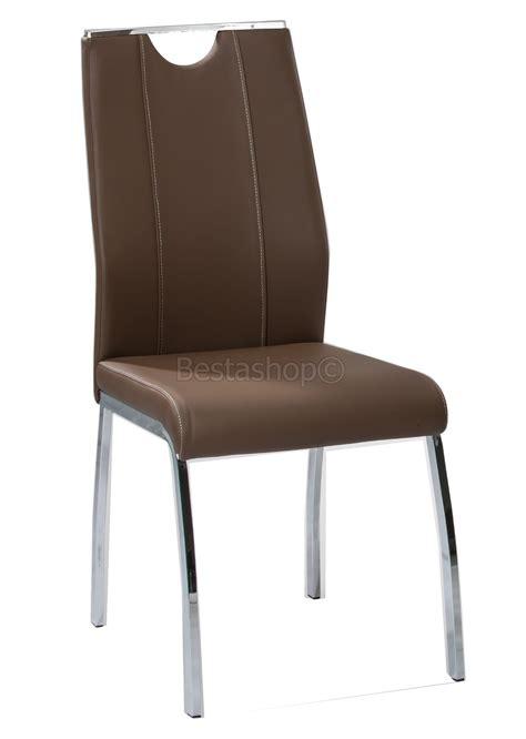 chaise salle a manger cuir chaises salle à manger en eco cuir empire