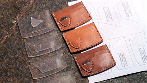 leather guitar pick wallet   template