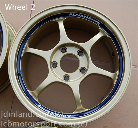 used shipping advan rg i gold 16x7 5 quot 5x114 3 45 offset sold