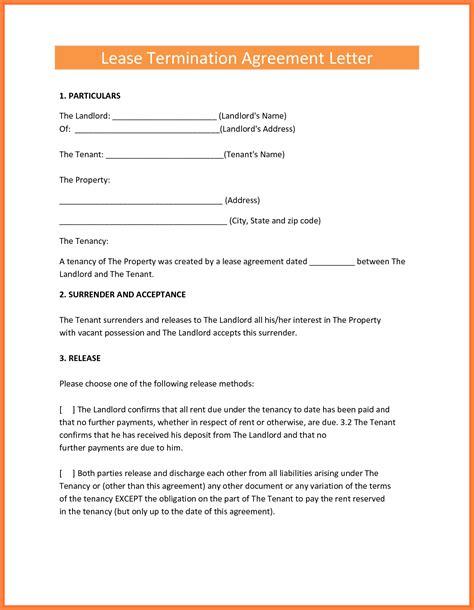 letter  terminate rental agreement  landlord