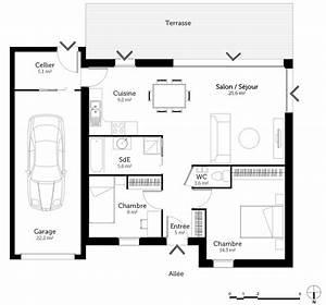 plan maison 2 pieces js52 jornalagora With plan maison etage 100m2 13 votre maison maison plain pied ou maison 224 etage