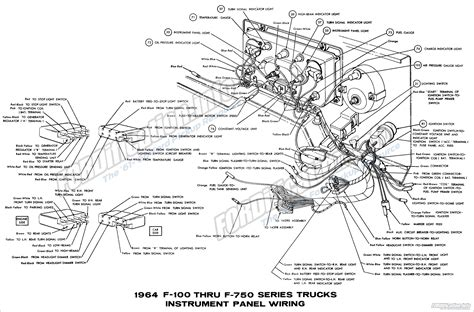 1963 Ford Truck Brake Light Wiring Diagram by 1964 Ford Truck Wiring Diagrams Fordification Info The