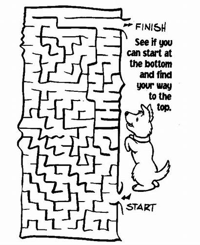 Maze Mazes Pages Printable Coloring Puzzle Worksheets