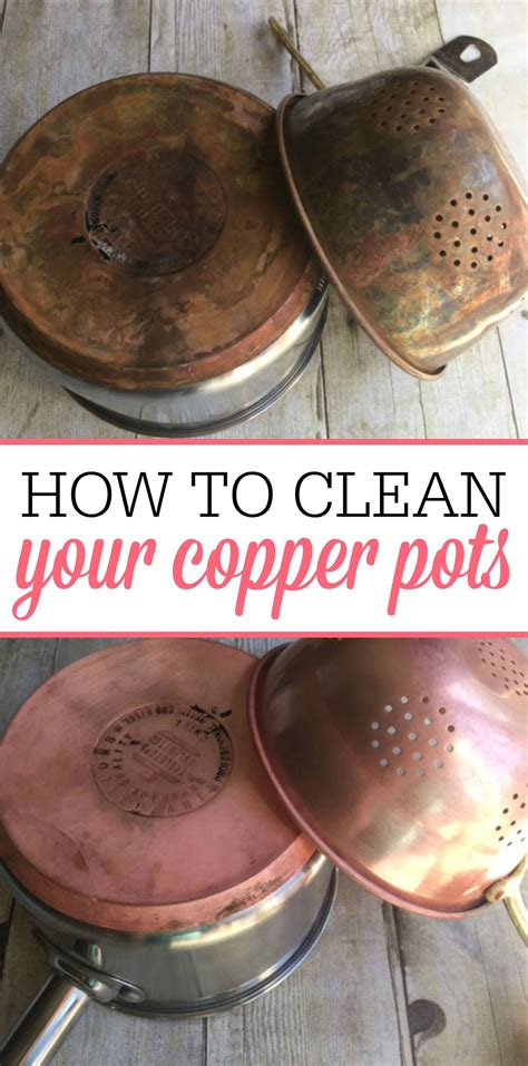 copper pots cleaning easy clean simple tips diy frugallyblonde pans