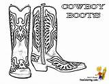 Cowboy Coloring Pages Boot Boots Cowboys Template Hat Western Colouring Ride Yescoloring Boys Em Clipart Description sketch template