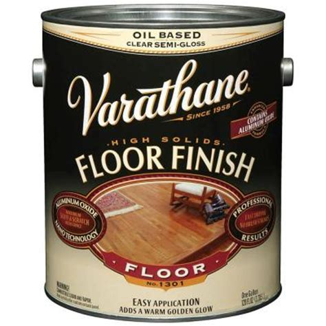 Varathane Floor Finish High Traffic Formula by Varathane 1 Gal Clear Semi Gloss 350 Voc Based Floor