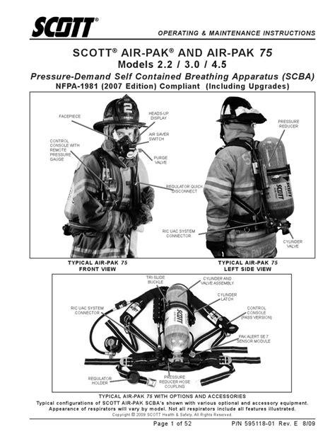 Air-Pak 75 SCBA - User Manual by Eddie Wong - issuu