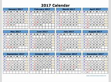 Free 2017 Calendar With Holidays printable 2017 calendars
