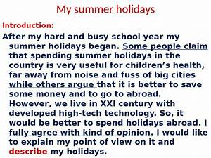 short paragraph on how i spent my holidays