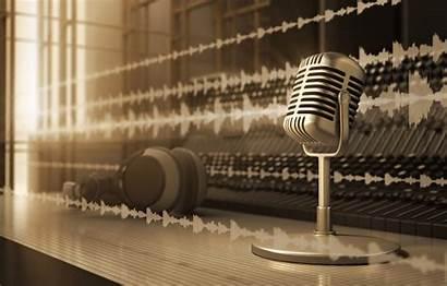 Microphone Radio Studio Retro Professional Infrared Mixer
