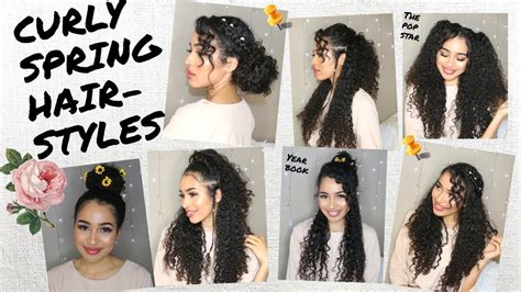 7 Spring/summer Hairstyles For Naturally Curly Hair! By