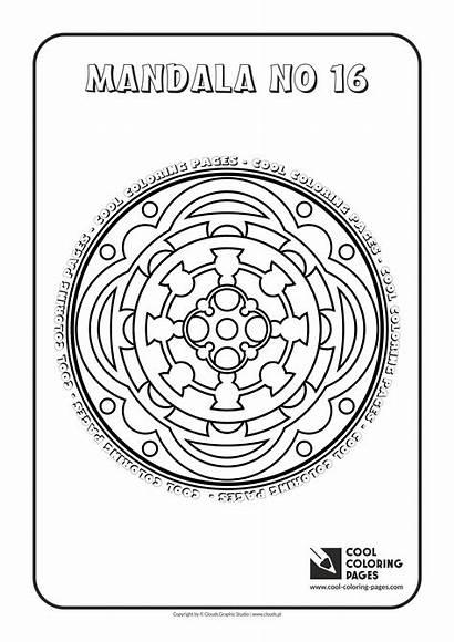 Coloring Pages Mandalas Cool Mandala Adult Educational