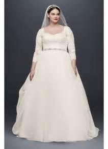 bridal registry finder oleg cassini plus size organza 3 4 wedding dress david 39 s