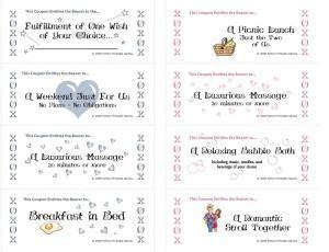 romantic coupons printable games