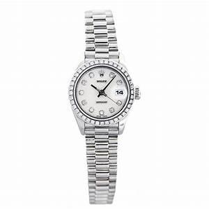 Rolex Datejust 79136 Presidential Platinum Ladies Watch ...