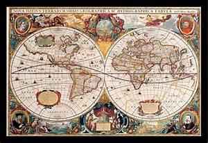 Alte Weltkarte Poster : landkarten antike weltkarte educational poster rahmen kunststoff mdf alu ebay ~ Markanthonyermac.com Haus und Dekorationen