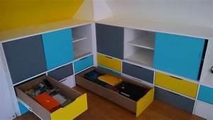 Rangement Pour Chambre : charmant meubles rangement chambre enfant ~ Premium-room.com Idées de Décoration