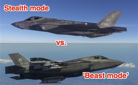 Here's when the F-35 will use stealth mode vs. 'beast mode ...