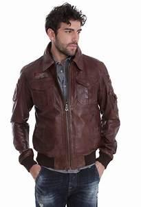 Blouson Cuir Aviateur Homme : blouson cuir homme veste cuir blouson tendance pas ~ Dallasstarsshop.com Idées de Décoration