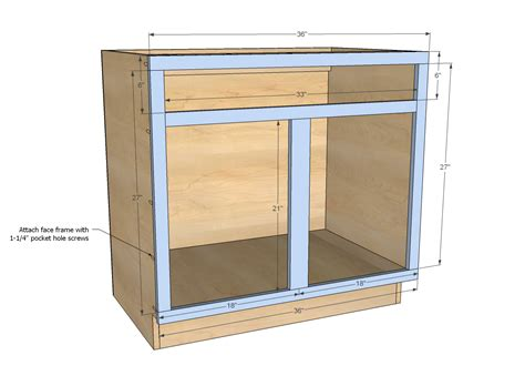 how to build open cabinets ana white build a 36 quot sink base kitchen cabinet