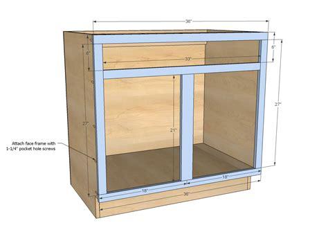 "Ana White  Build A 36"" Sink Base Kitchen Cabinet"