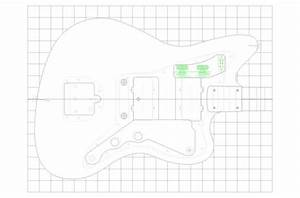 Fender jazzmaster guitar templates electric herald for Fender jazzmaster body template