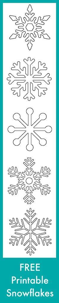 small snowflake template free printable snowflakes