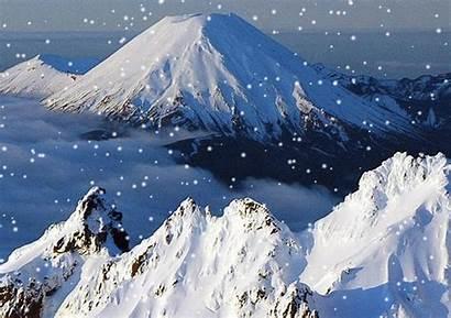 Mountains Animated Snow Gifs Trekking Isengard Cgc