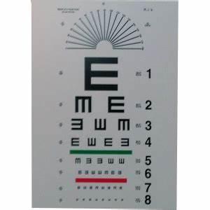 Tumbling Quot E Quot Eye Chart 10 Ft Ophthalmic Equipment