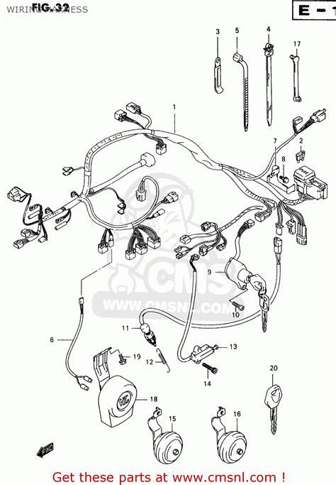 suzuki vl   wiring harness schematic partsfiche