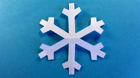 schneeflocken basteln weihnachtsdeko basteln diy