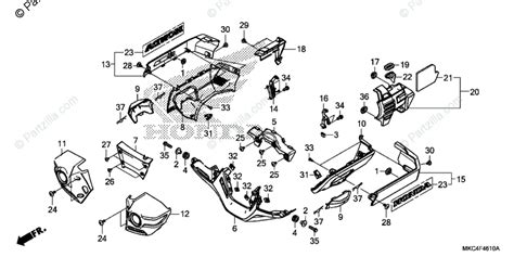 Honda Motorcycle Oem Parts Diagram For Engine Cover
