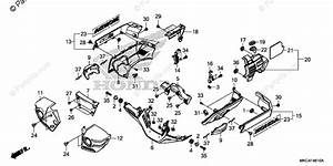 Honda Motorcycle 2018 Oem Parts Diagram For Engine Cover