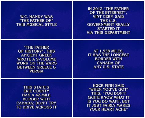 jeopardy game show fonts