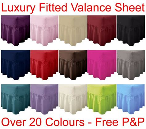 plain dyed fitted valance sheet poly cotton bed sheet
