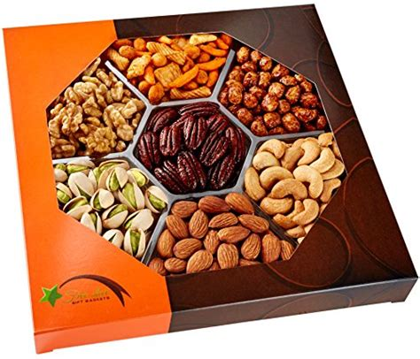 holiday gourmet food nuts gift basket 7 different nuts five star gift baskets starling s car trunk organizer with car sunshade best gifts says it s cool