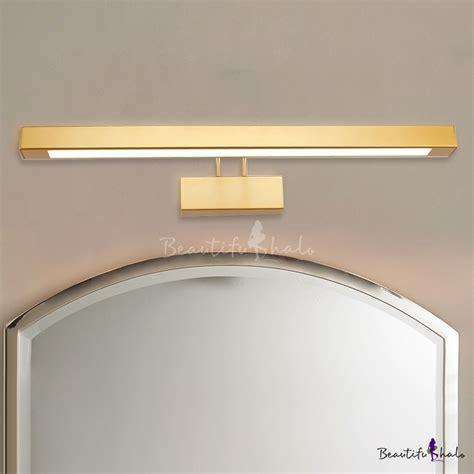 Modern Bathroom Light Fixtures Lowes by Post Modern Bathroom Vanity Light Antique Brass 9w 16w Led