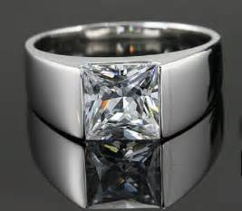 where to buy mens wedding band aliexpress buy 2ct square brand brilliant jewelry synthetic ring for