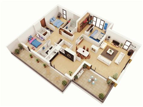 home plans with photos of interior design of house 3 bedroom