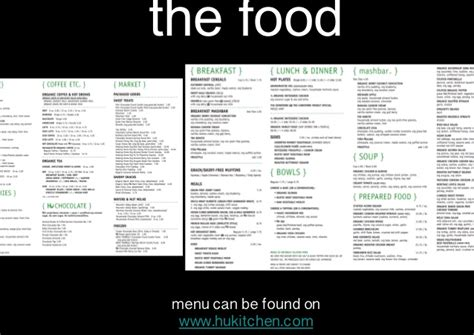 hu kitchen menu hu kitchen ppt