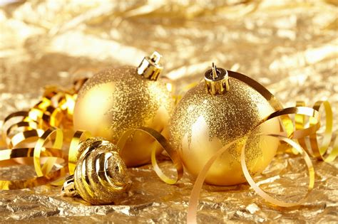 golden christmas decorations christmas photo 22230555